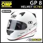New! SC785 OMP Racing GP8 Full Face Helmet GP 8 inc 2 Visors FIA SNELL Approved