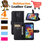 Leather Wallet Stand Folio Flip LSP Case Cover For Samsung Galaxy S5 / SM-G900