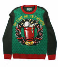 Ugly Christmas Sweater Men's Xmas Cheer Beer Pong Pullover Sweater
