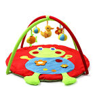 Animal Baby Infant Gym Play Mat Indoor Floor Crawl Soft Blanket Mat With Toy