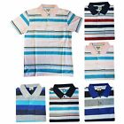 Men's Striped Polo Shirt T-Shirt with Pocket Short Sleeve