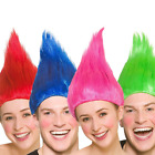 New Ladies Mens Troll Elf Pixie Gnome Wig Cosplay Fancy Dress Cartoon Character image