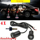 4x Universal Car Door LED Welcome Logo Lights Laser Bulb Projection Ghost Shadow