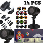 Weather-resistant 14 PCS Pattern Gobos Garden Light Projector For Party Decors