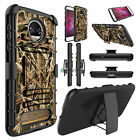 For Motorola Moto Z2 Force/Z2 Play Shockproof Hybrid Stand Clip Phone Case Cover