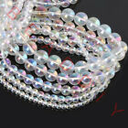 4mm 6mm 8mm 10mm 12mm Round Transparent AB CZ Crystal Beads For Jewelry Making