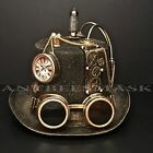 Steampunk Victorian Design Cosplay Costume Burning Man Unisex Hat