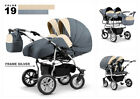 Baby Pushchair Pram Tandem Sport Twin - Double Travel System + 2x Car Seat Free.