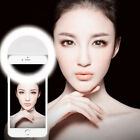 LED Ring Fill Light Selfie Photography Camera for iPhone X 8 Plus Smartphones