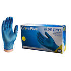 GlovePlus Blue Vinyl Industrial Latex Free Disposable Gloves (Box of 100)