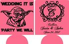 party we will yoda star wars wedding coozies no minimums can coolers quick ship