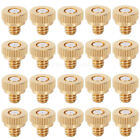 10 20 30pcs Brass Spray Misting Nozzle For Cooling System Garden 0.3mm 10 24 UNC