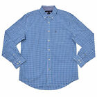 Tommy Hilfiger Mens Shirt Classic Fit Buttondown Gingham Long Sleeve Casual New