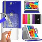 For Huawei MediaPad T1 10 Tablet - 360° PU Leather Stand Case & Glass