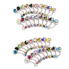 New Stainless Steel Belly Button Ring Navel Bar Body Piercing Jewelry 1.6*10mm