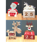 Santa Reindeer Unicorn Christmas Advent Wooden Block Countdown to  Christmas