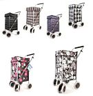 Shopping Trolley 6 Wheel Cart Grocery Folding Market Laundry Bag & Spare parts