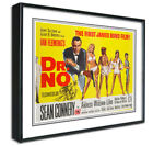 Dr No James Bond Framed Canvas Art Print,Retro Vintage,Man Cave,Bar A4 A3 Diner £17.99 GBP on eBay