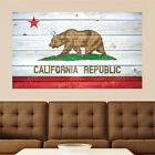 California Fail Distressed Wood Vinyl Wall Decal Sticker Graphic Art - 4 Sizes
