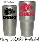 NFL Kansas City Chiefs Football Vinyl for YETI Tumbler 20 30 Ozark RTIC Sticker