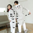 Soft Fancy Dress Unisex Cosplay Suit Adult Hooded Pyjamas Animal Sleepwear UK