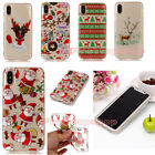 Xmas Painted TPU + IMD Silicone Case Skin Cover For iPhone 5S SE 6 6S 7 8 Plus X