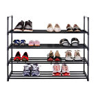 Durable 4-Tier Shoe Rack Metal Storage Hold 20 Pair Shoes Stackable Organizer
