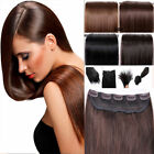 """80g Straight One Piece 5 Clips Clip in Real 100% Human Hair Extensions 15""""-26"""""""