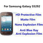 s5292 samsung - 3pcsFor Samsung Galaxy  S5292 High Clear/Matte/Anti Blue Ray Screen Protector