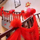 5PCS 30cm Organza Decoration Flower Ball for Wedding XMAS Car Party Stair Bow