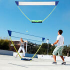 Adjustable Outdoor Portable Folding Badminton Volleyball Set w/Stand Battledore