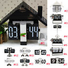 Retro Auto Flip Down Clock Metal Desk Clock Home Cafe Decorative Tabletop Clocks