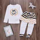 1-6Y Toddler Baby Girls Long Sleeve Tops + Dress Pants 2Pcs Sets Outfits Clothes
