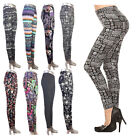 Women Winter Xmas Thick Warm Lined Thermal Stretchy Slim Skinny Leggings Pants v