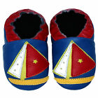 Free shipping Newborn Prewalker Soft Sole Leather Baby Shoes Boat Blue 0-5 yrs