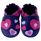 Free shipping Prewalker Crib Soft Sole Leather Baby Shoes Hearts Purple0-5 years