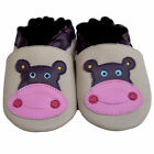 Free shipping Newborn Infant Soft Sole Leather Baby Shoes Hippo Beige 0-5 years