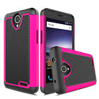 For ZTE Maven 3/Overture 3/Prelude Plus Shockproof Hybrid Slim Armor Case Cover