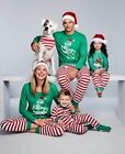 Family Matching Christmas Pajamas Set Women Baby Kids Elf Sleepwear Nightwear