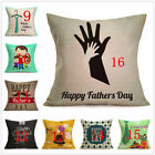 Decorative Father's Day DAD Gift Throw Pillow Case Cushion Cover Linen Square