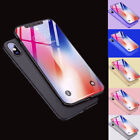 360° Full Body Protector Thin Slim Hard Cover Case + Tempered Glass for iPhone X
