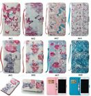 Painted Flip Leather Card Stand Case Wallet Cover For Samsung J3 J7 S8 Note 8 LG