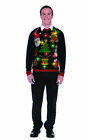 Holiday Mash-up Christmas Light Up Funny Ugly Sweater Party Unisex Adult Costume