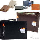 Внешний вид - Mens Wallet Bifold Leather RFID Blocking Slim Wallets with Money Clip