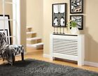 White Painted Radiator Cover Cabinet Traditional Wood MDF Modern Adjustable