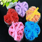 9 Pcs Bath Body Flower Heart Favor Soap Rose Petal Wedding Decor Party Gift Hot