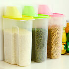 2.5L Plastic Kitchen Food Cereal Grain Bean Rice Storage Box Container Case AA