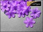 Beads Acrylic Blossoms Flowers frosted purple 33mm x 8mm Jewelry crafts DIY