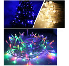 10M 100 Led String Garland Christmas Tree Light Outdoor Party Holiday Decoration