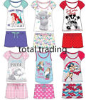 Ladies Womens Short Pyjamas Set Pjs Loungewear Novelty Disney Nightwear Novelty